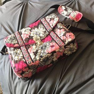 Mocha rouge Vera Bradley laptop bag